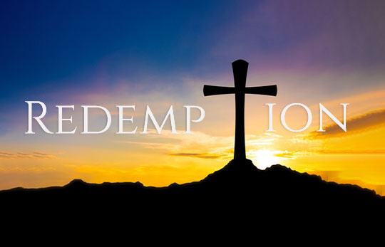 redemption with a cross on the a hill